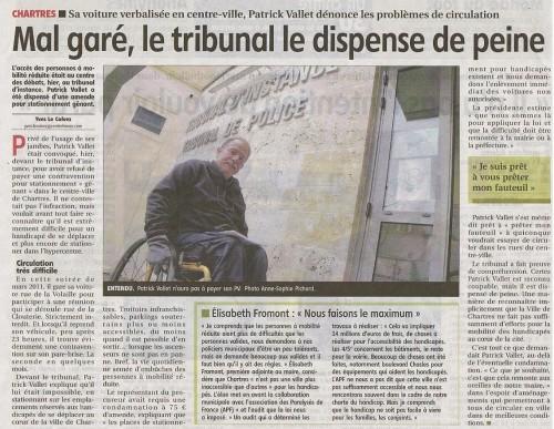 Chartres, handicap, stationnement, centre ville